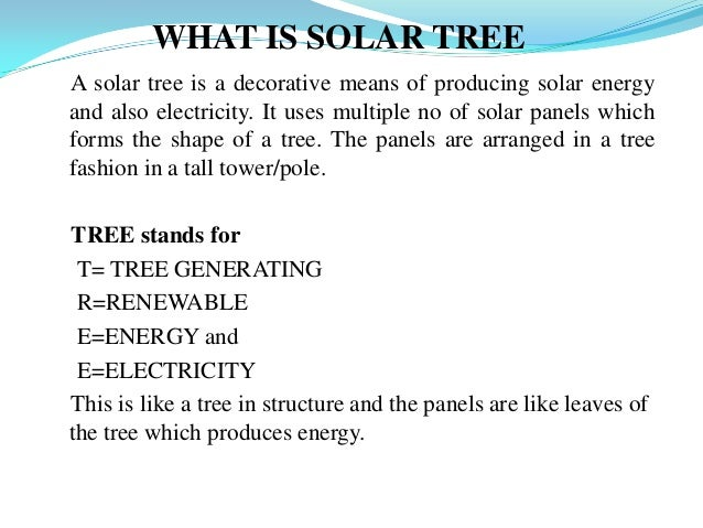what is solar tree a solar tree is a decorative