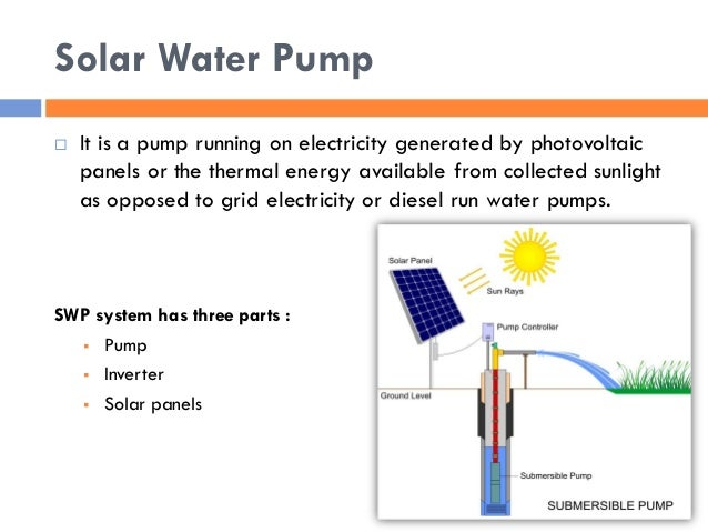 "Solar water pump (swp) in india ""Research thesis presentation"""