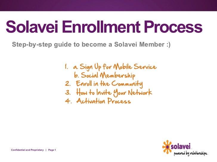 Solavei enrollment process