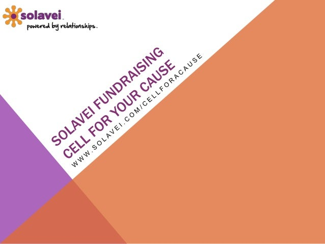 Solavei fundraising for your cause