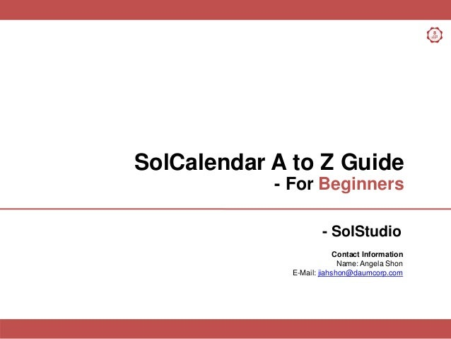 SolCalendar A to Z Guide for Beginners_last updated_20140327