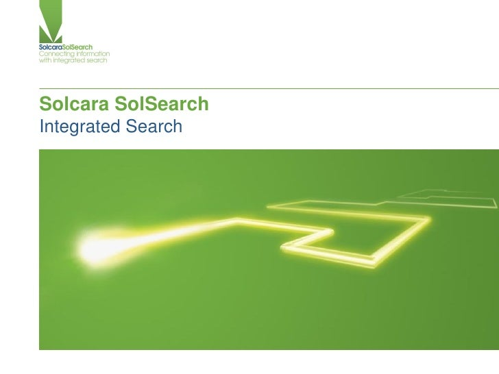 Solcara SolSearch Integrated Search