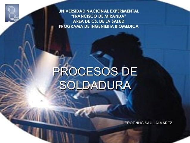 """UNIVERSIDAD NACIONAL EXPERIMENTAL """"FRANCISCO DE MIRANDA"""" AREA DE CS. DE LA SALUD PROGRAMA DE INGENIERIA BIOMEDICA  PROCESO..."""