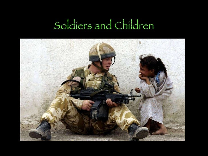 Soldiers and children