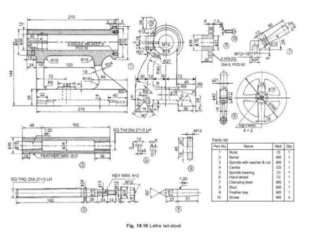 lathe machine drawing pdf - photo #14