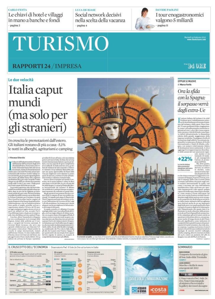 Il Sole 24ORE Rapporto turismo 2012