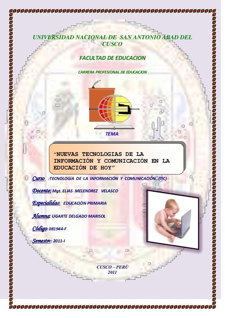 -914781-241427UNIVERSIDAD NACIONAL DE  SAN ANTONIO ABAD DEL CUSCO<br />FACULTAD DE EDUCACION<br />CARRERA PROFESIONAL DE E...