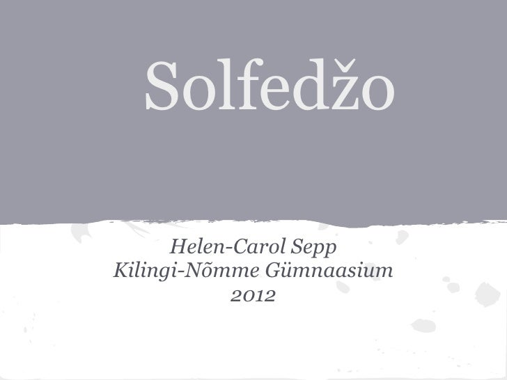 Solfedžo