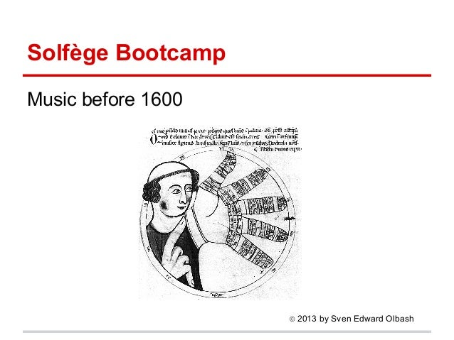 Solfège Bootcamp I: Music before 1600
