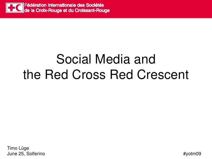 Social Media Basics for the Red Cross Red Crescent