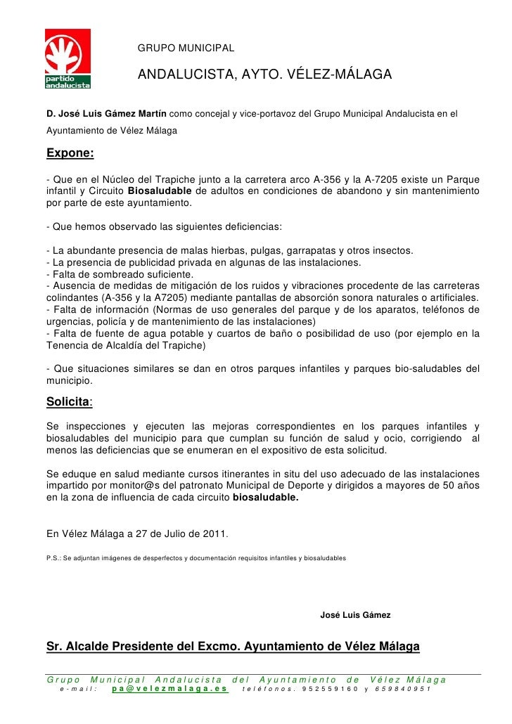 GRUPO MUNICIPAL ANDALUCISTA, AYTO. VÉLEZ-MÁLAGAD. José Luis Gámez