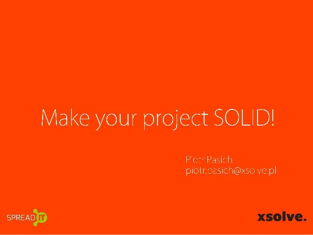 SpreadIT - Make your project SOLID!