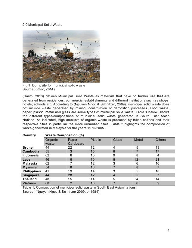 waste management essay with diagram