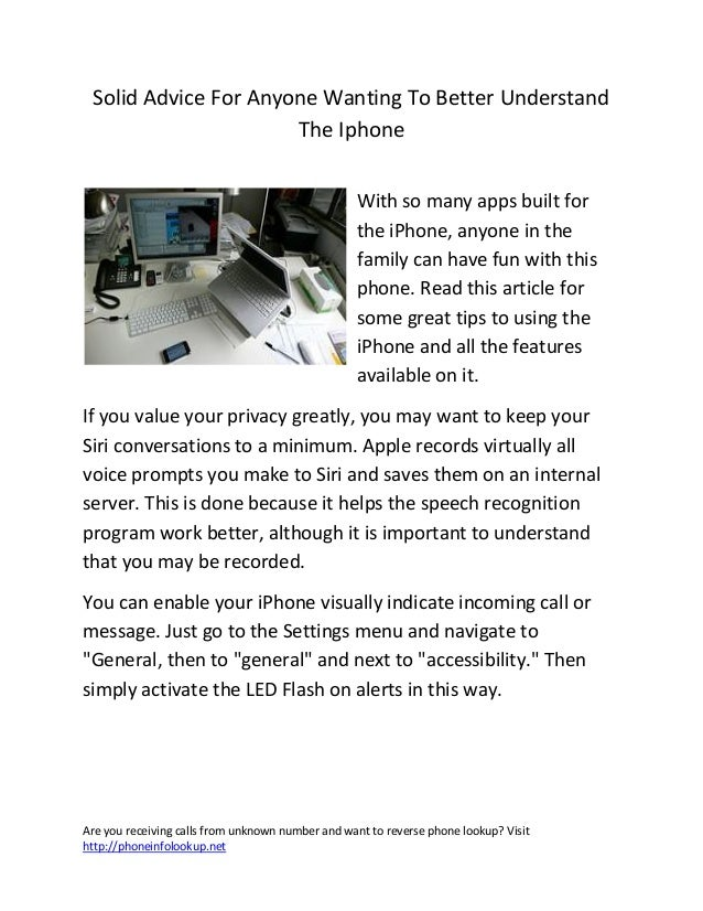 Solid advice for anyone wanting to better understand the iphone