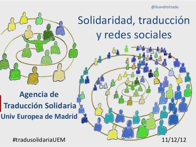 Solidaridad, traducción y redes sociales