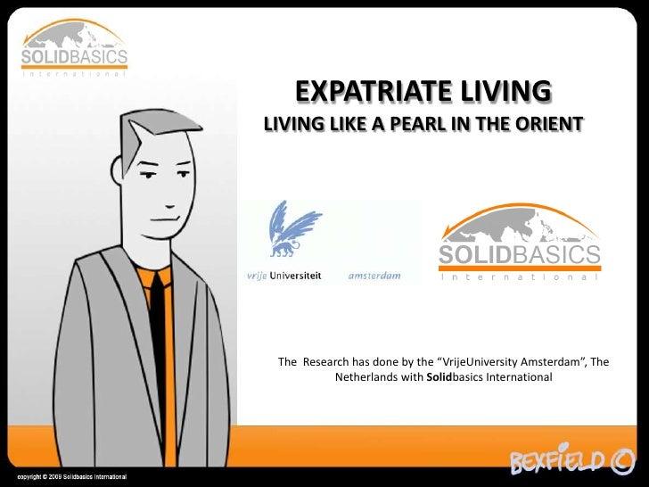 Solidbasics International   Expats In The Orient  Vrije University Amsterdam V1