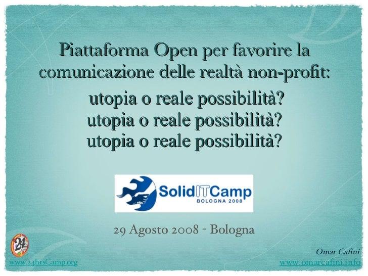 SolidITcamp - Piattaforma Open per favorire la comunicazione delle realtà non-profit