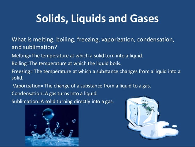 How does liquid turn into a solid?