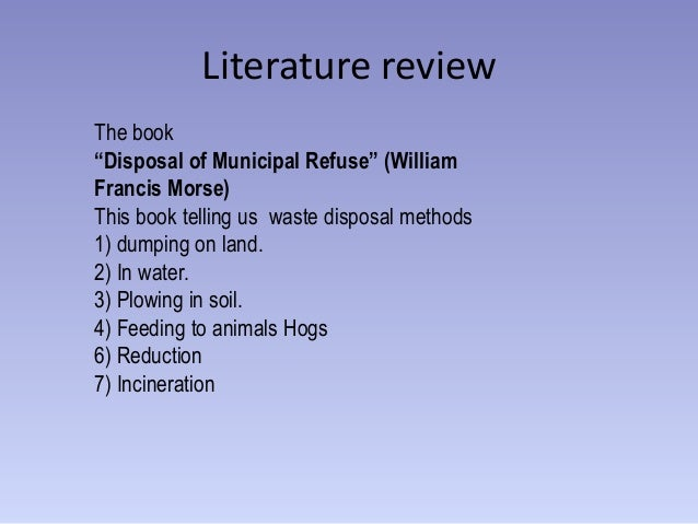 literature review waste management solid