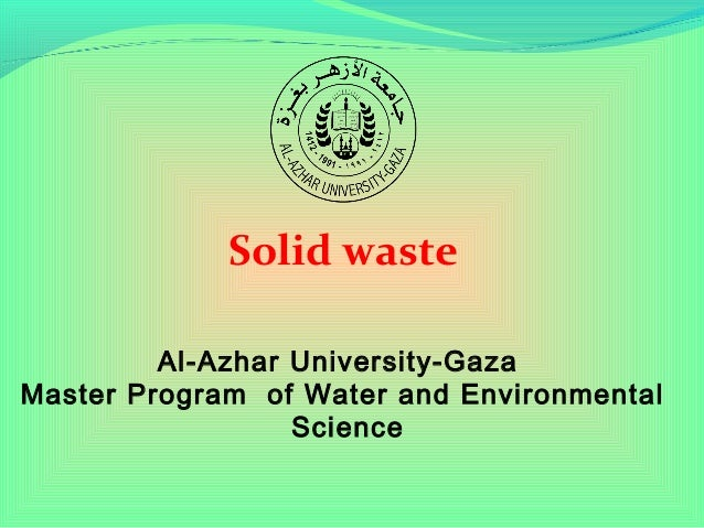 Solid waste - Environmental Health