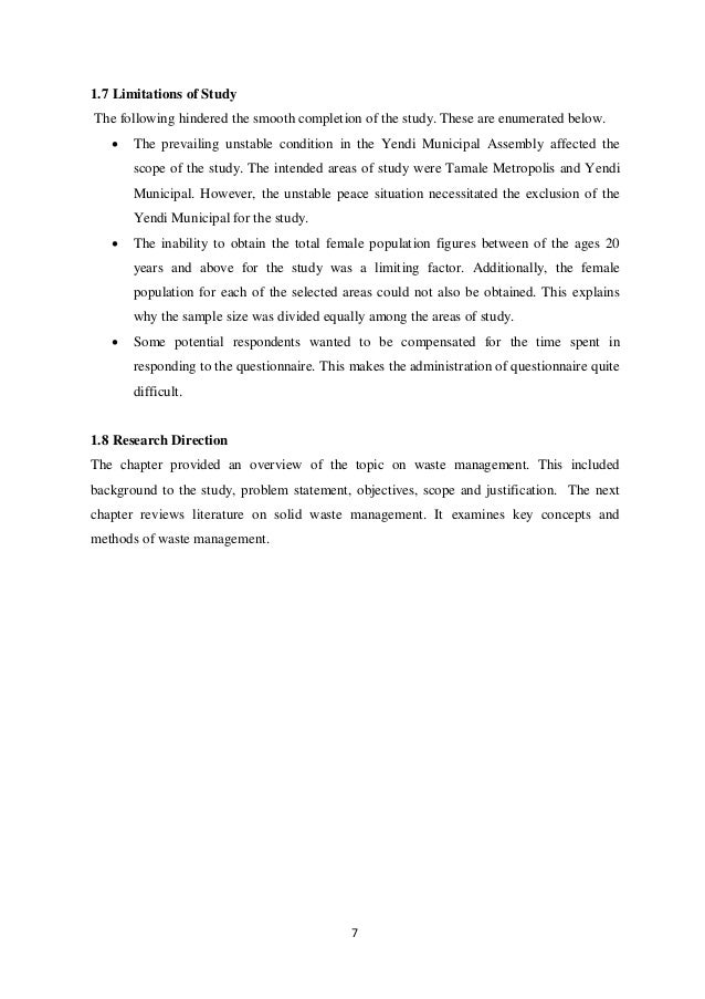 Construction waste management dissertation