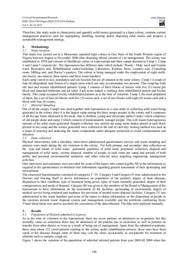 an essay on solid waste management essay example  followthesalarycom an essay on solid waste management the objective of the waste management is  to minimize the