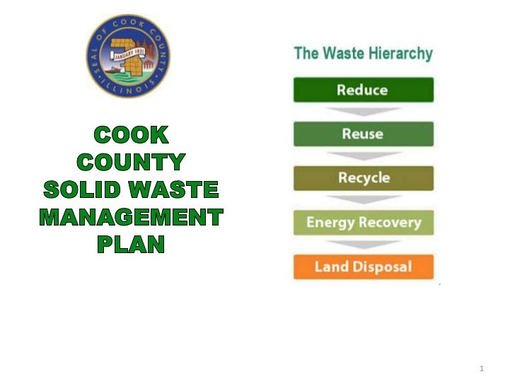 Cook County Solid Waste Action Plan--Passed 4/3/12