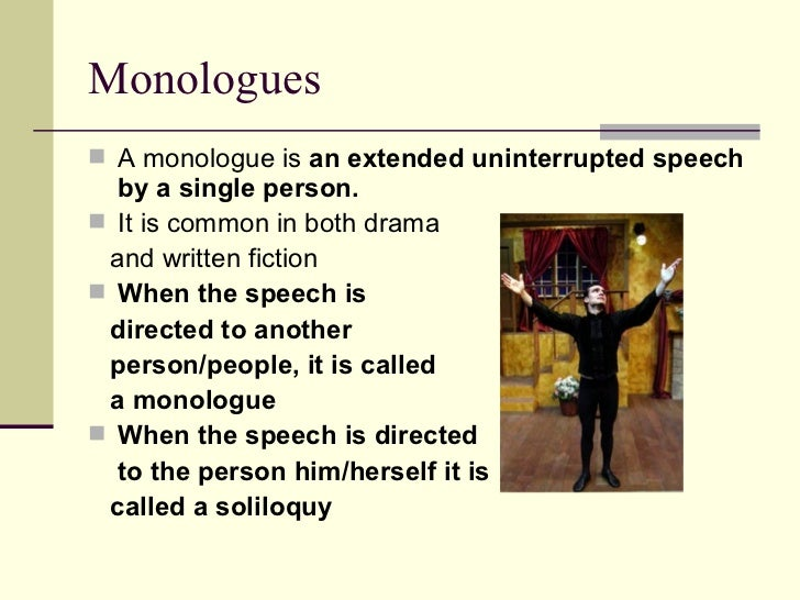 how to end a monolouge