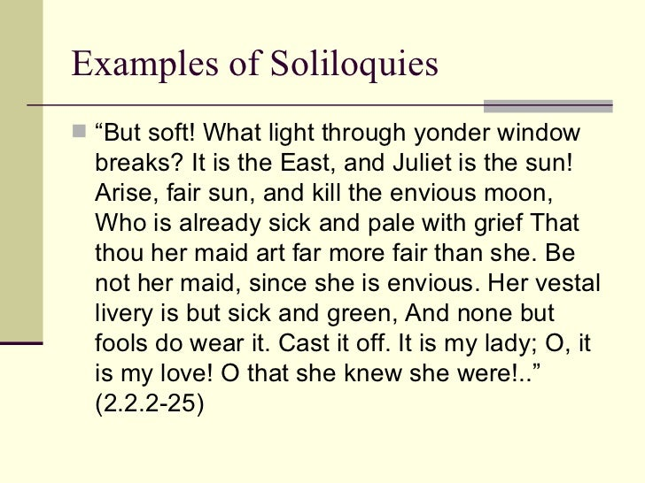 Teaching how to write a soliloquy