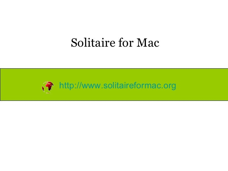 Solitaire for mac