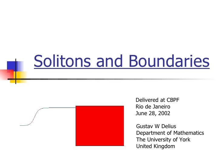 Solitons and boundaries