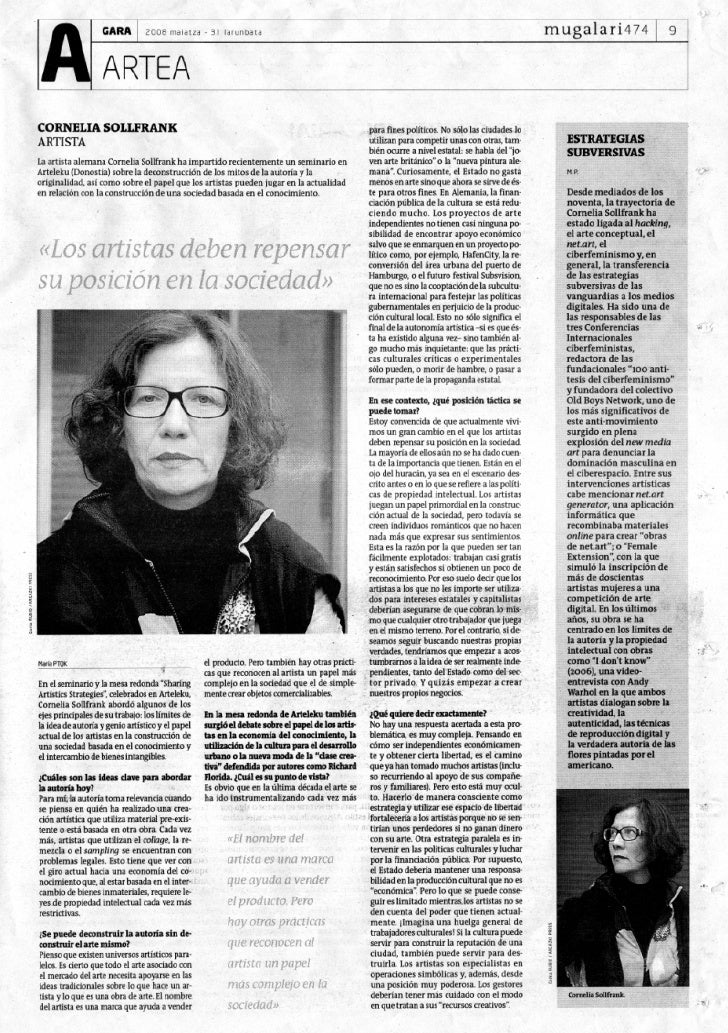 Entrevista a Cornelia Sollfrank