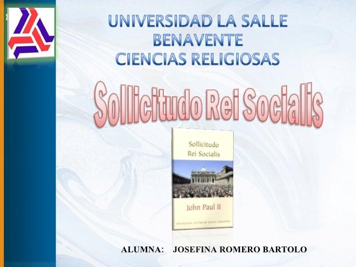 ALUMNA:  JOSEFINA ROMERO BARTOLO