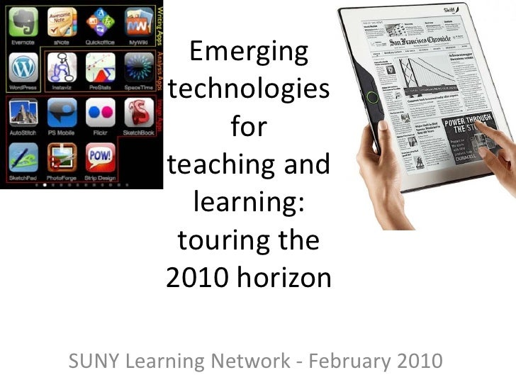 Emerging          technologies               for          teaching and            learning:           touring the         ...