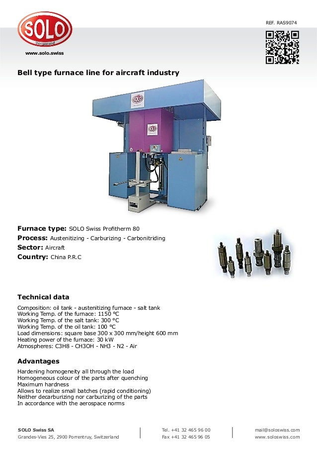 SOLO Swiss Borel Swiss AXRON THERMIC SERVICE Industrial Furnaces Furnaces & Ovens Process Engineering Repair & Maintenance...