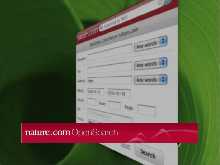 nature.com OpenSearch