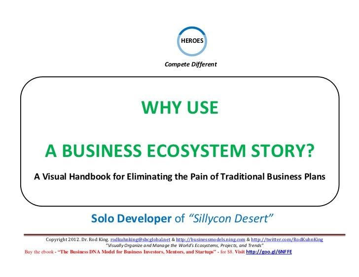 THE ONE-PAGE BUSINESS ECOSYSTEM STORY: A Visual Handbook for Eliminating the Pain of Traditional Business Plans