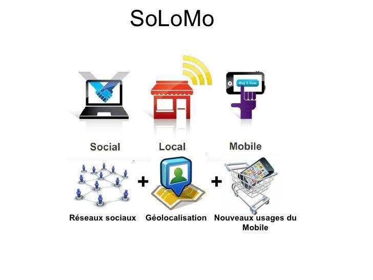 SoLoMo                  +             +Réseaux sociaux   Géolocalisation Nouveaux usages du                               ...