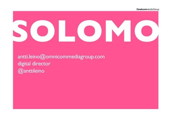 Solomo Antti Leino 12 05 2012