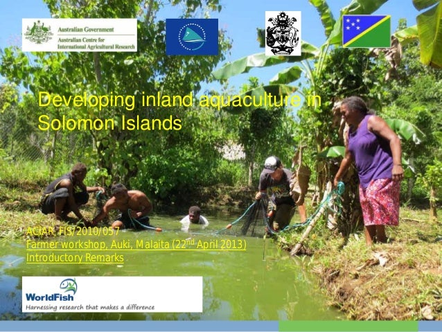 Developing inland aquaculture in Solomon Islands