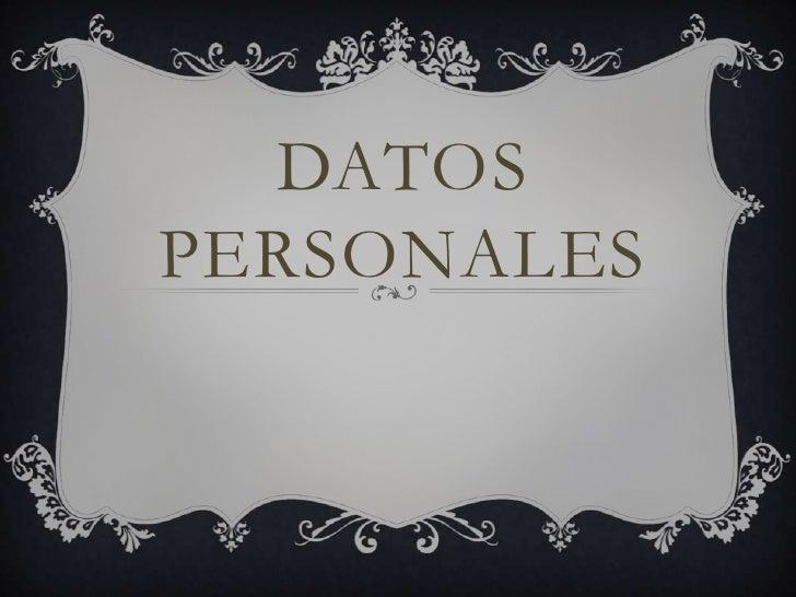 DATOSPERSONALES