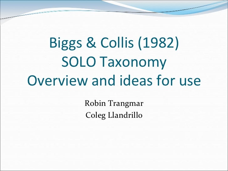 Solo taxonomy: Overview of SOLO taxonomy
