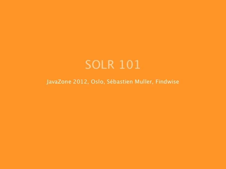 Solr 101