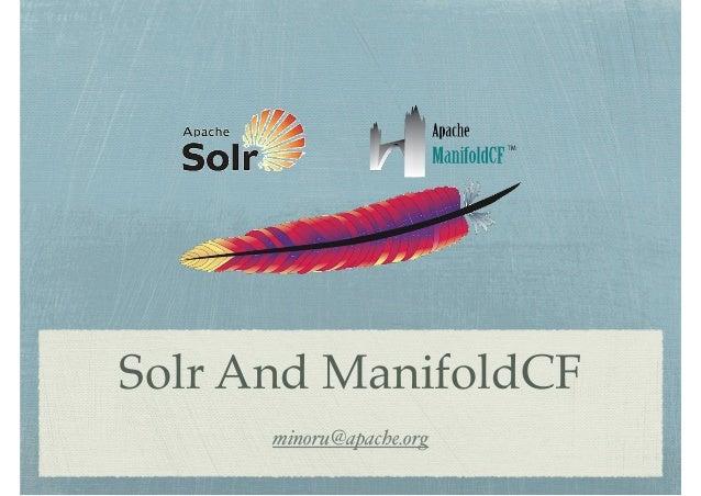 Solr and ManifoldCF