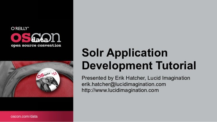 Solr Application Development Tutorial