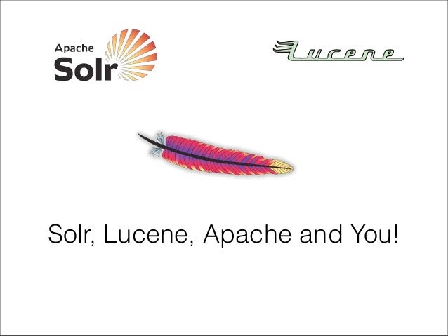 Solr, Lucene, Apache, and You!