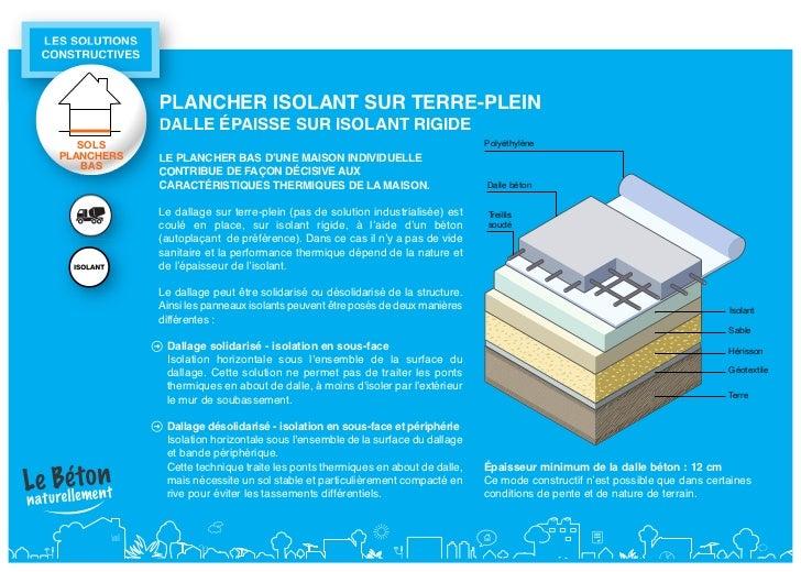 Sols plancher beton for Epaisseur dalle sur terre plein