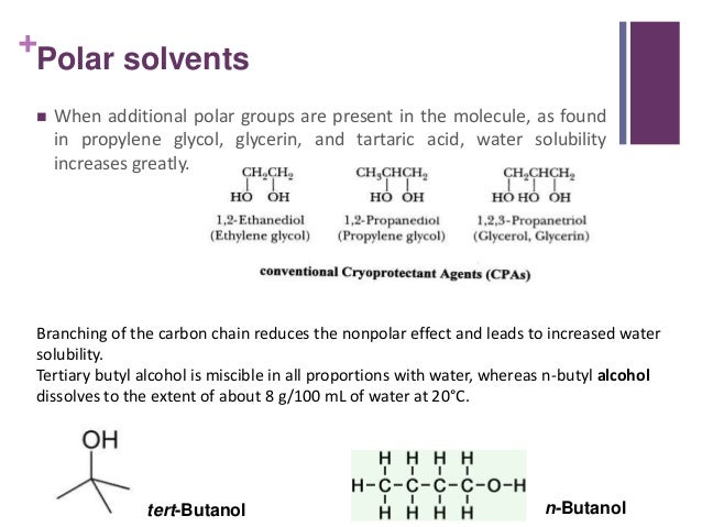 water polarity and solubility relationship