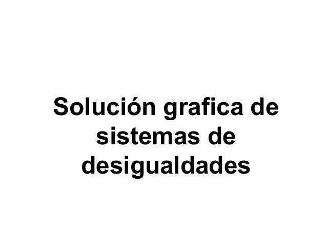Solución grafica de sistemas de desigualdades