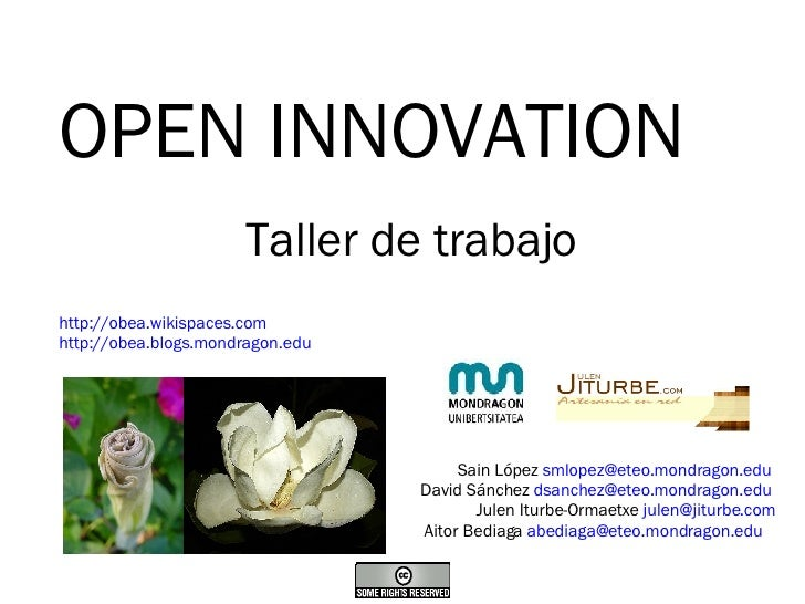 Open Innovation. Comunidad de Innovadores